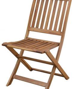 כיסא עץ מתקפל ללא ידית