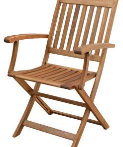 כיסא עץ מתקפל עם ידית