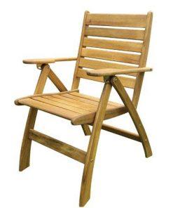 כיסא עץ מתקפל עם משענת