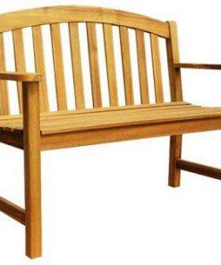 ספסל עץ זוגי 120X61 גובה 92