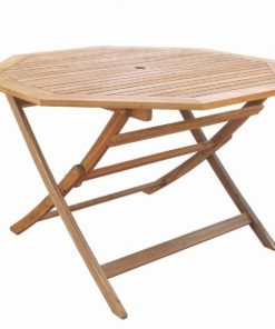 שולחן עץ מתומן מתקפל