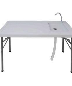 שולחן מתקפל עם כיור וברז מובנה