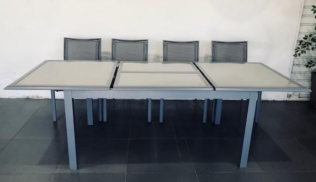 ריהוט גינה שולחן אלומיניום נפתח