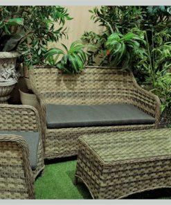מערכת ישיבה סט ספות ראטן לגינה