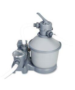 משאבת סינון חול 1000 גלון לשעה| שמירה על איכות נקיון וצלילות המים תוצרת Bestway העולמית!דגם 58400