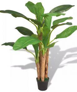 """עצי בננות מלאכותי 3 גזעים עם עלי בננות גובה 250 ס""""מ - 185 ס""""מ - 125 ס""""מ המחיר הוא ללא כד צמחיה מלאכותית לחללים סגורים ללא אור טבעי ללובי למשרד ולכל מטרה הזמן עכשיו בבית וגן"""