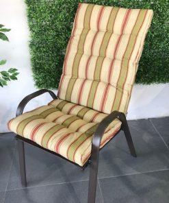ריפוד גב ומושב לכיסא גינה 4