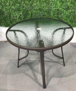 שולחן עגול מתכת לגינה